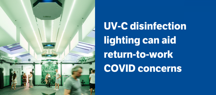Powercor UV-C disinfection lighting for offices, retail and hospitality