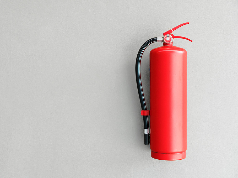 fire alarms and extinguishers